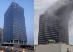 How Fire gutted $1bn World Trade Centre Skyscraper Abuja + PICTURES